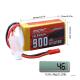 Аккумулятор Li-Po Sunpadow 2S 7,4v  900mAh  25C