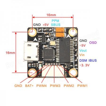 Полетный контроллер Super_S F4 Built-in Betaflight OSD