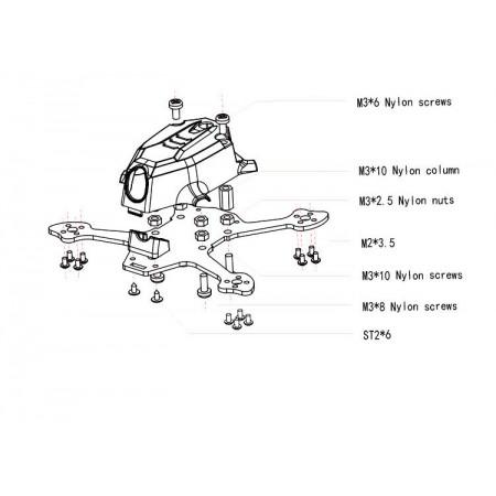 Рама мини квадрокоптера 95GT