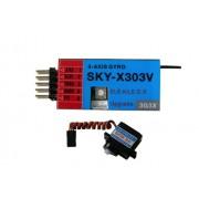 SKY-X303V 3-Axis гироскопическая система Flybarless
